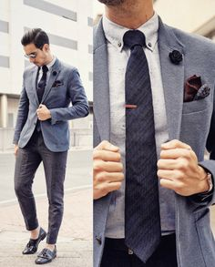 Our paisley print wool pocket square in action.
