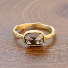 1.83ctw dark brown diamond ring