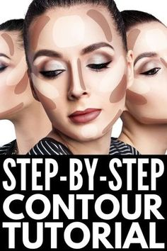 How to Contour Your Face Correctly: A St. - Want to know how to contour your face correctly, but don't know what products to use, what makeup - Contouring For Beginners, Step By Step Contouring, Makeup Tutorial For Beginners, How To Contour For Beginners, Beginner Makeup, Le Contouring, Contouring And Highlighting, Contouring Tutorial, What Is Contouring