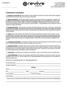 Things To Include When Writing A Consignment Agreement For Your