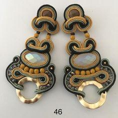 Soutache Necklace, Tassel Earrings, Boho Jewelry, Jewelry Accessories, Dory, Shibori, Beaded Embroidery, Bling Bling, Jewelry Making