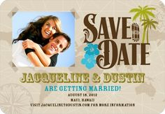 Tropical Save the Date Magnets $2.09 #Save the dates #Wedding #Savethedatemagnets