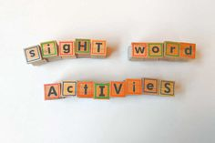 These quick and easy sight word activities provide a hands-on way to practice sight words. I used these activities in my kindergarten class and homeschool. Teaching Sight Words, Sight Words List, Dolch Sight Words, Sight Word Practice, Teaching Letters, Sight Word Games, Spelling Activities, Sight Word Activities, Kindergarten Activities