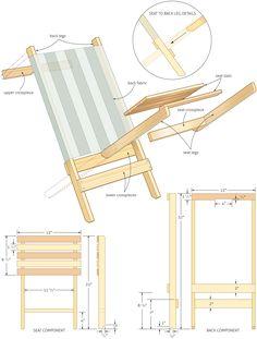 Folding beach chair woodworking plans - WoodShop Plans