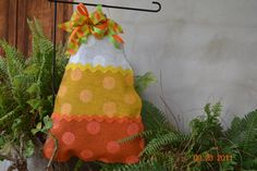 Burlap Door Hanger- Candy Corn