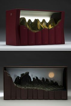 Awe-inspiring landscapes out of obsolete and outdated books