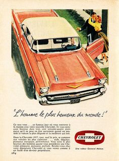 1957 Chevrolet Bel Air Sport Coupe Ad