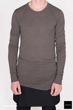 Rick Owens BASIC LONG SLEEVES T - darkdust 187 € | Seven Shop