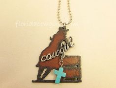 Guardian Angel Barrel Racer Necklace Cowgirl Cross by FLcowgirls, $23.98
