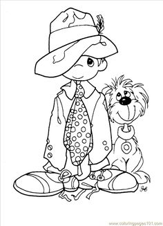 Vintage Easter Coloring Pages | free printable coloring page Precious Moments 1 (10) (Cartoons ...