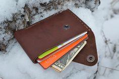 Leather Card Holder Leather, via Etsy: sergklim.