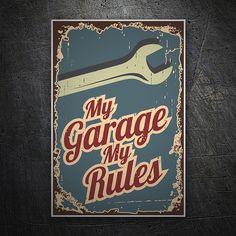 Pegatinas: Rules Garage #coche #pegatina #sticker