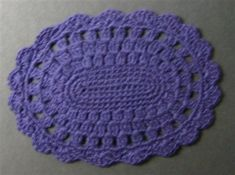 Miniature Blue Oval Dollhouse Rug - Crochet Me