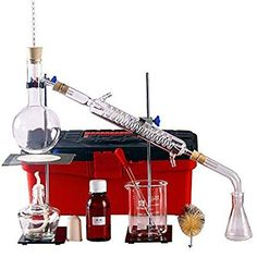 Brand New Lab Essential Oil Distillation Apparatus Water Distiller Purifier Glassware Kits w/Separatory Funnel Condenser Pipe Full Sets Essential Oil Still, Essential Oils, Essential Oil Distiller, Steam Distillation, Pot Still, Science Kits, Distilled Water, Survival Skills, Health Tips