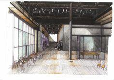 """Boceto de escenografía """"Así es, si así os parece"""". Temporada 2006/2007. Louvre, Building, Travel, Decor, Sketch, Theater, Viajes, Decoration, Buildings"""