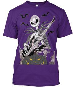 Have A Rockin Halloween Purple T-Shirt Front