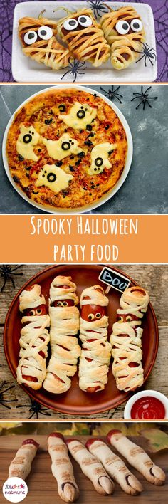 Halloween's coming, Halloween's coming ... We've put together some spookily scrumptious savoury Halloween party food ideas. From eyeball eggs to mummified hot dogs, this lot are gruesomely good!