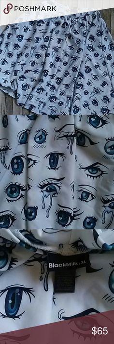 Blackmilk midi skirt Anime eyes blackmilk midi skirt size xl excellent condition Blackmilk Skirts Midi