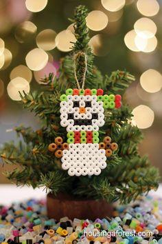 Perler Bead Ornaments ~ simple kids Christmas craft