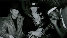 David Bowie, Stevie Ray Vaughan, Nile Rodgers recording Let's Dance. (Image: © Chuck Pulin/Splash News/Corbis)
