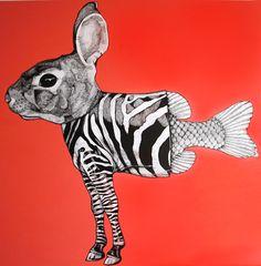 Alexis Diaz is a Puerto Rico-based artist who creates weird animal hybrids.