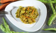 Receta de Arroz integral con verduras y legumbres ⭐⭐