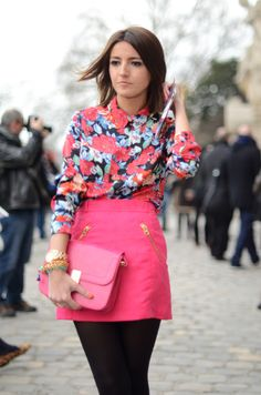 Too much pink in one outfit for my liking, but totally like the combination of prints and patterns