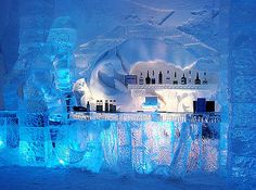 Ice Hotel in Quebec Canada is one of the most unique hotels in the world. Made out of ice and snow the hotel boasts spacious bedrooms, jazz suite, ice bar and cafe, hockey suite and an ice chapel. Lappland, Honeymoon Spots, Vacation Spots, Vacation Travel, Beach Travel, Budget Travel, Travel Ideas, Travel Photos, Travel Tips