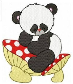 PATCHCOLAGEM-APPLIQUE: PANDA