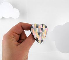 Geometric Brooch Heart by SketchInc on Etsy, £8.50