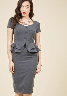 Pin-Up Stunner Sheath Dress in 2X, #ModCloth