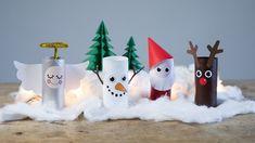 DIY: Christmas landscape from paper rolls by Søstrene Grene