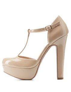 5c14d8ac3a36 Chunky Platform T-Strap Heels  CharlotteLook  heels  tstrap T Strap Heels