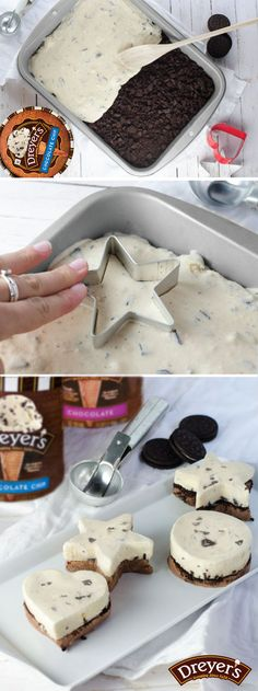 The best part about this dessert recipe for delicious mini ice cream cakes? Everybody gets their own! The second best part? They're easy to make with your kids! Just spread a layer of Chocolate ice cream in a small pan and top with crumbled cookies and a layer of Chocolate chip ice cream, re-freeze, and use fun-shaped cookie cutters to dish out individual cakes!