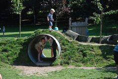 Playground Build & Design Natural Child Play Earth Wrights Ltd Natural Play Spaces, Outdoor Play Spaces, Kids Outdoor Play, Kids Play Area, Backyard For Kids, Outdoor Fun, Outdoor Games, Playground Design, Backyard Playground