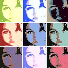 I use this website with my 5th grade students when we do Pop art and study Andy Warhol.  We take photos of ourselves using photo booth on our macs.
