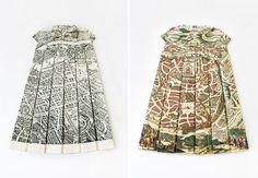British artist Elisabeth Lecourt's Les Robes Géographiques series