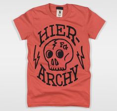 'Hierarchy' Tshirt womens pomegranate
