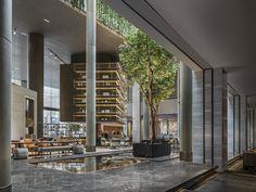 Sheraton Shenzhen Nanshan by CCD / Cheng Chung Design Lobby Bar, Hotel Lobby, Shenzhen, Oriental Hotel, Sculpture Stand, Glass Brick, Lobby Design, Atrium, Interior Architecture