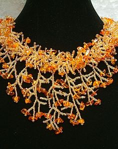 Varvara hand beaded necklace. I know this Russian artist and her work is exquisite!