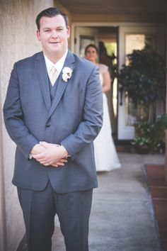 First Look Rustic Backyard Wedding by Brit Jaye Photography San Diego, CA See www.britjaye.com for booking #sandiegoweddings #sandiegoweddingphotographer