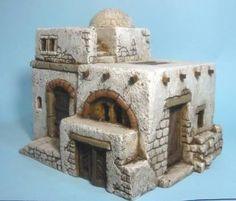 casa presepi - Cerca con Google Nativity House, Christmas Nativity, Clay Houses, Ceramic Houses, Hirst Arts, Pottery Houses, Modelos 3d, Christmas Villages, Fairy Houses
