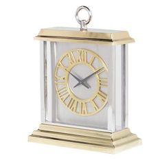Gold Aluminium Two Tone Mantel Clock