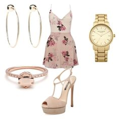 """Untitled #24"" by hellokitty379921 on Polyvore featuring Lipsy, Casadei, Topshop and Bebe"