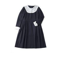 ピューリタンカラーのワンピース ($340) ❤ liked on Polyvore featuring dresses