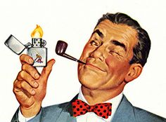 Amazing shot capturing the utter bliss of a dad smoking a pipe. I like the wink.