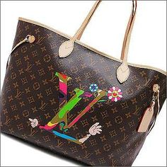 The Neverfull MM is my favourite LV tote, but I love this one with the Takashi Murakami print.