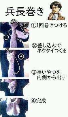 shingeki no kyojin   Levi cravat tutorial