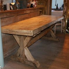 A Charming Antique French Oak Farmhouse Table With A Superb Oak Top Which  Has Developed A Lovely Mellow Honey Patina With Great Character.