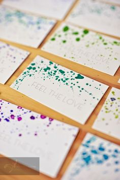 Personalize those blah white Thank you notes with a bit of paint like these by Rebekah j. Murray photography